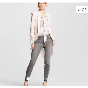 Mossimo Gray Mid-Rise Denim Legging